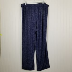 Cacique Blue Lounge Pants 18/20 Heathered Blue